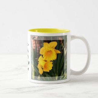 Custom Mother's Day Daffodil Coffee Mug