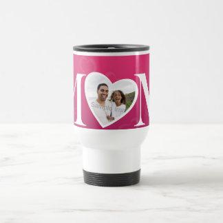Custom Mothers Day O Heart MOM Photo Mug