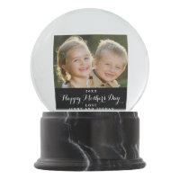 Custom Mother's Day Photo Snow Globe