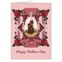 Custom Mothers Day Reining Horse Card