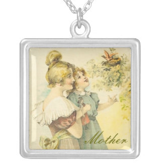 Custom Mother's Day Square Pendant Necklace