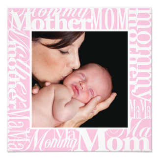 Custom Mother's Day Word Collage Photo Print