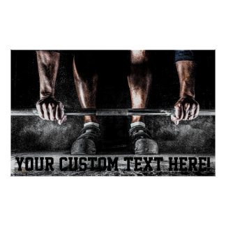 Custom Motivation Training Weight Lifting Poster