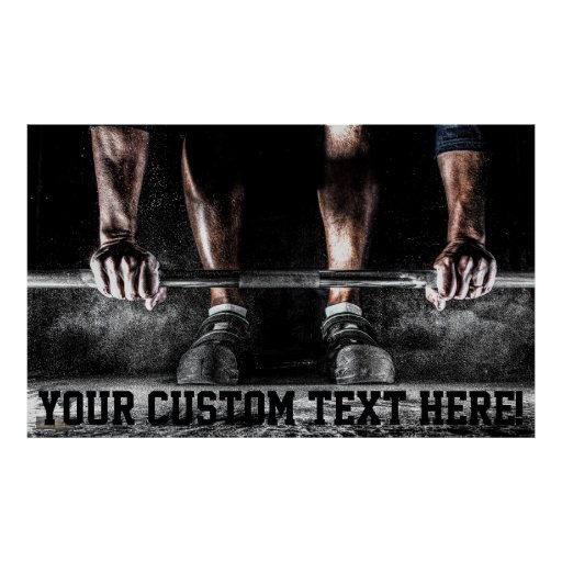 Custom Motivation Training Weight Lifting Poster Zazzle Com