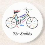 Custom Motivational Bike, Cycle, Sport Beverage Coasters