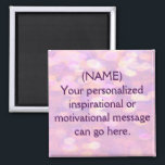 """Custom Motivational Message Magnet<br><div class=""""desc"""">Create a motivational message to help you attain a goal,  or give a motivational message to a family member or friend. Makes a great inspirational gift.</div>"""