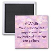Custom Motivational Message Magnet