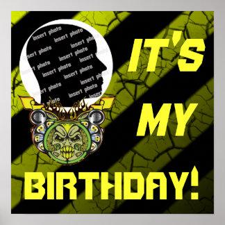 Custom Motor Madness Birthday Poster