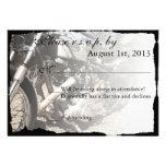 Custom Motorcycle Biker Wedding RSVP card