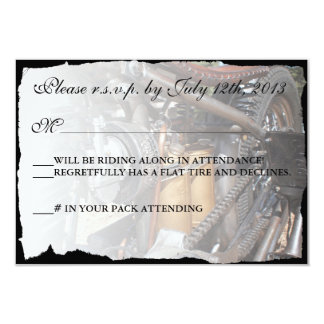 Custom Motorcycle Biker Wedding RSVP card Custom Invitation