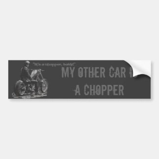 Custom Motorcycle Chopper Love Car Bumper Sticker
