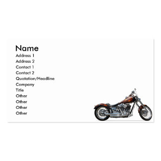 Custom Motorcycle Double-Sided Standard Business Cards (Pack Of 100)