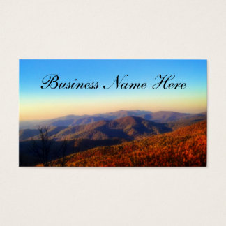 Custom Mountain Top Background Business Card