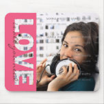 Custom Mousepads Designs with Cut Out Text  | LOVE
