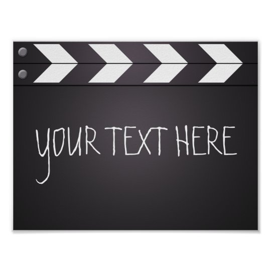 custom movie director clapboard your text poster zazzle com