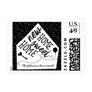 Custom Moving Announcement Postage Stamps
