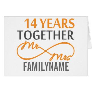 14th Wedding Anniversary Greeting Cards