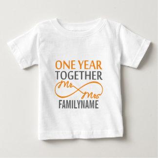 Custom Mr and Mrs 1st Anniversary Tee Shirt