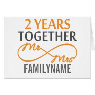 Custom Mr and Mrs 2nd Anniversary Card