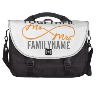 Custom Mr and Mrs 2nd Anniversary Commuter Bags