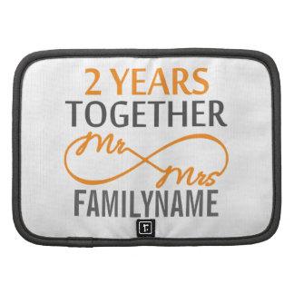 Custom Mr and Mrs 2nd Anniversary Organizers