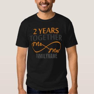 Custom Mr and Mrs 2nd Anniversary Tee Shirt