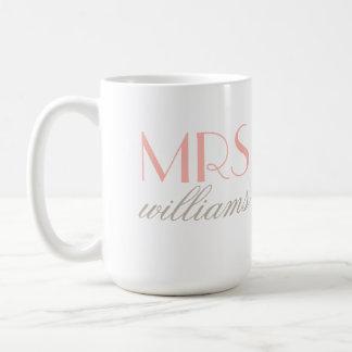 Custom Mrs. Coffee Mug   Bride-to-Be Gifts