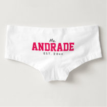 Custom Mrs Panties Wedding Day Underwear for Bride