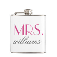 Custom Mrs. Wedding Flask | Bride-to-Be Gifts