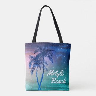 Custom Mrytle Beach Tote Bags   Palm Trees