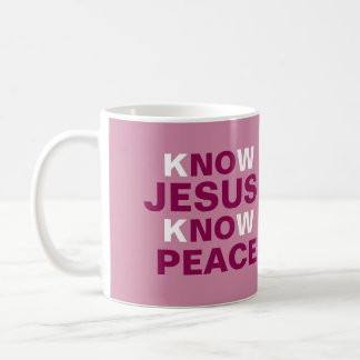 Custom Mug - Know Jesus Know Peace