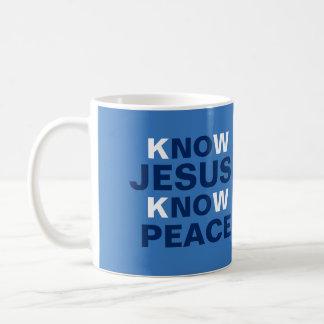Custom Mug - Know Jesus Know Peace For Him