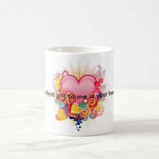Custom mug, message of Love Coffee Mug
