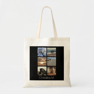 Custom Multi Photo Mosaic Picture Collage Canvas Bags