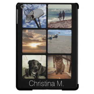 Custom Multi Photo Mosaic Picture Collage Cover For iPad Air