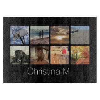 Custom Multi Photo Mosaic Picture Collage Cutting Board