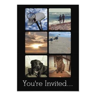 Custom Multi Photo Mosaic Picture Collage Invitations