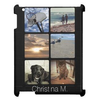 Custom Multi Photo Mosaic Picture Collage iPad Case