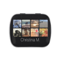 Custom Multi Photo Mosaic Picture Collage Jelly Belly Tins