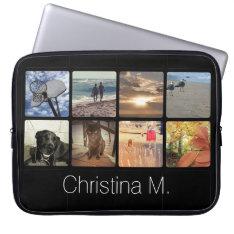 Custom Multi Photo Mosaic Picture Collage Laptop Sleeve at Zazzle