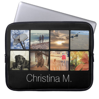 Custom Multi Photo Mosaic Picture Collage Computer Sleeve