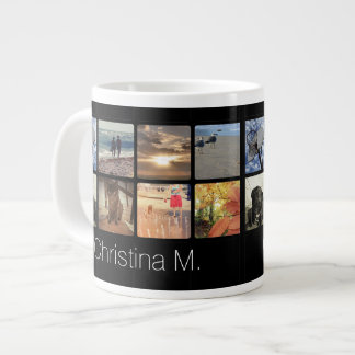 Custom Multi Photo Mosaic Picture Collage Large Coffee Mug