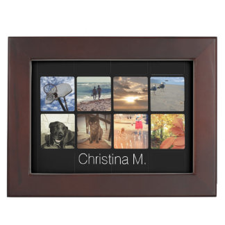 Custom Multi Photo Mosaic Picture Collage Memory Box