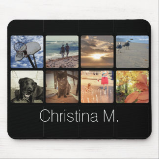 Custom Multi Photo Mosaic Picture Collage Mouse Pad