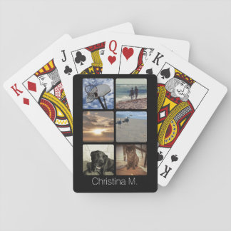 Custom Multi Photo Mosaic Picture Collage Deck Of Cards