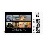 Custom Multi Photo Mosaic Picture Collage Postage