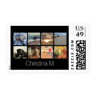 Custom Multi Photo Mosaic Picture Collage Postage Stamps