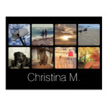 Custom Multi Photo Mosaic Picture Collage Postcard