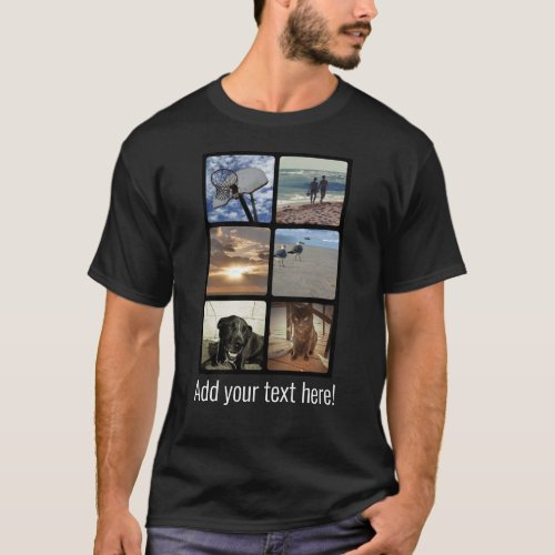 Custom Multi Photo Mosaic Picture Collage T_Shirt