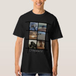 Custom Multi Photo Mosaic Picture Collage Tee Shirt